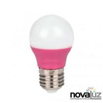 Lampada Super Led Ourolux Bolinha 5w Rosa - 1