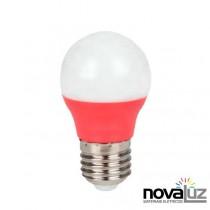 Lampada Super Led Ourolux Bolinha 5w Vermelho - 1