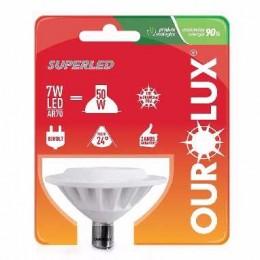 Lampada Super Led Ourolux Ar70 7w 3000k - 1